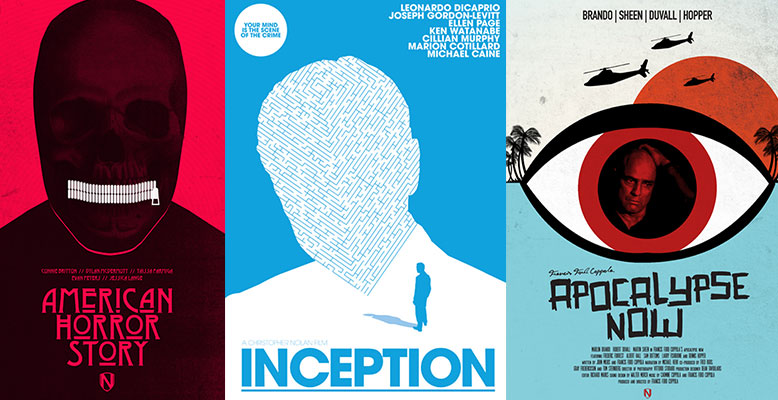 25 Illustrated Film & TV Posters by Needle Design
